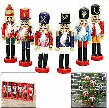 Xrten 6 Stück Weihnachten Nussknacker Ornaments