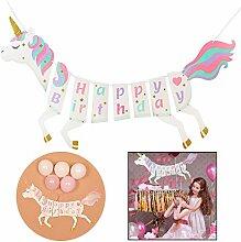 Xrten Happy Birthday Banner,Geburtstagsdeko
