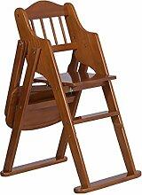 XRXY Baby-fester hölzerner Baby-Stuhl / Kinder, die Stühle / zusammenklappbaren Schemel 46 * 86 cm speisen ( Farbe : B )