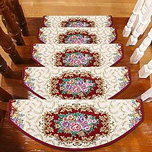 XRXY Druck rutschfeste kleberfreie Treppenmatte / selbstabsorbierende staubdichte Schritt-Auflage / Haushalt verdicken Fußauflage (eine Packung 1) ( Farbe : A , größe : 100*24cm )
