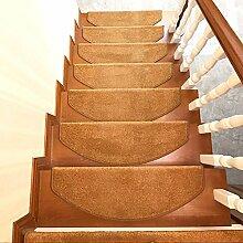 XRXY Einfarbige einfache Treppenmatte /