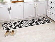 XRXY Farbiger Druck-praktischer Teppich / Badezimmer-Küche / Streifen-Verdickung-Fußauflage / Schlafzimmer-Foyer-Eingangsmatte ( Farbe : B , größe : 50*120cm )