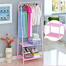 XRXY Haushalt Floorstanding Garderobe / Schlafzimmer / einfache Kleiderbügel / moderne Montage hängen Rack (4 Arten optional) ( Farbe : C-Pink )