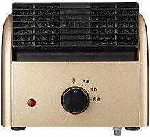 XRXY Kreative Mini Fan / Haushalt Energiesparende Elektroheizung / Büro Multifunktions Desktop Effiziente Leiser Heizung (2 Farben Optional) ( Farbe : Gold )
