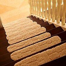 XRXY Kreatives abnutzungsbeständiges Treppen-Matten- / Treppen-rutschfester Teppich- / Schlafzimmer-Eingangsstufen-Auflage / saugfähiges Fuß-Auflage ( Farbe : White-24*70cm , größe : A pack of 3 )