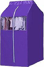 XRXY Oxford Tuch Kleidung Staubschutz / waschbar kreative Verdickung Aufbewahrungstasche / Garderobe Kleiderbügel Dreidimensionale Kleidung Cover / Mantel Staubbeutel (4 Farben optional) ( Farbe : Lila , größe : 112CM )