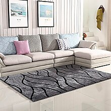 XRXY Verschlüsselung Verdickung Bright Seidenteppich / Wohnzimmer Couchtisch Teppich / Schlafzimmer Nachttisch Rutschfeste Fußauflage ( Farbe : E , größe : 70*150cm )
