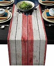 Xspring Rico Tischläufer, Leinen, mit Flagge,