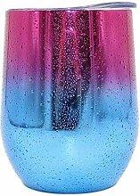 XTY Weinglas mit Stiel, Edelstahl, 340 ml,