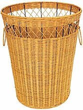 Xuan - worth having Gelb Rattan Dirty Clothes Korb Bauernhaus Stil Dirty Korb Natürliche Pflanze Rebe Pure Hand Weaving