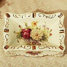 Xuan - worth having Luxus-Aschenbecher-Art- und Weisepers5onlichkeit-kreativer keramischer Aschenbecher-Ausgangsdekoration-Dekoration Aschenbecher