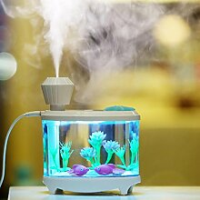 Xuan - worth having Mini USB Luftbefeuchter 320 ml Büro Fisch Tank Stil Stumm Schlafzimmer Air Replenishment Spray Haushalts Büro ( Farbe : Grün )