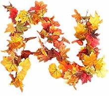 XuBa Herbst Kürbis Reben Rattan Dekoration für