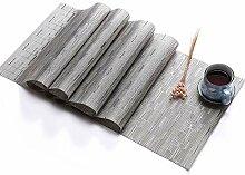 Xuba PVC-Tischläufer, einfarbig, aus Bambus,