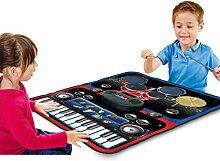 XuBa Spielmatte für Kinder, 2 in 1, mit Trommeln