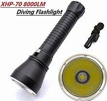 XuBa Taschenlampe Tauchlampe Super Helligkeit,