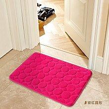XUELONG Fußmatte Bodenbeläge mat Kriechgang pad Kinder Fussmatte plastik Teppichfliesen home Fußmatte 50 x 80 cm Tür Matte, der rote Kreis