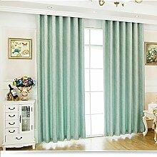 XUEPING Vorhänge Modernen Minimalistischen Chenille Jacquard Vorhänge Schatten Sonnenschutz Stoff Wohnzimmer Schlafzimmer Balkon Boden Bis Zur Decke Fenster Vorhänge ( größe : W240×H240 )
