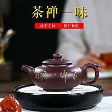 XueQing Teekanne aus lila Ton für Zen Tee,