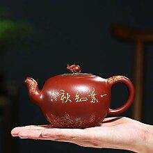 XueQing Teekanne mit Perlen, handgefertigt,