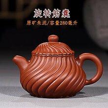 XueQing Teekanne mit rotierenden Rippen, Geschenk,