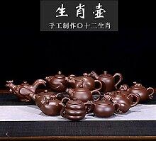 XueQing Teekanne mit Tierkreiszeichen (Farbe: