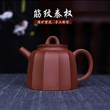 XueQing Teekanne mit traditionellem Rippenmuster,