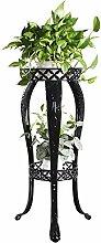 XUEWENZHE Blumenständer Blumentopf Regal Eisen Bodenart 2-Schicht Blumenregal europäischer Stil Innen- draussen Bonsai steht Verschiedene Gartenregal ( farbe : Schwarz , größe : 40CM*81CM )