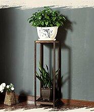 XUEWENZHE Blumenständer Einfache Blumentopf Rack Wohnzimmer Balkon Massivholz Blume Regal Hanging Blue Regal Verschiedene Gartenregal ( größe : 28*90cm )