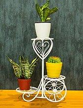 XUEWENZHE Blumenständer Einfache Eisen Blume Rack Kreative Drei Ebenen Blume Rack Boden Typ Blume Rack Balkon Boden Pflanzer Regal Europäische Moderne Wohnzimmer Indoor Flower Rack Verschiedene Gartenregal ( farbe : A )