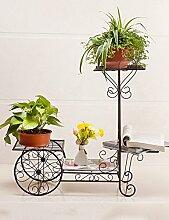 XUEWENZHE Blumenständer Einfache Eisen Kreativ Trapez Multilayer Boden Typ Blume Rack Balkon Boden Pflanzer Regal Europäische Moderne Wohnzimmer Indoor Flower Rack Verschiedene Gartenregal ( farbe : 1 , größe : B(L:76*W:28*H:70CM) )