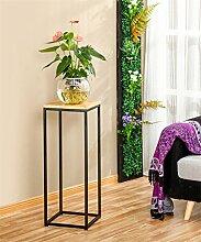 XUEWENZHE Blumenständer Einfache moderne Fußboden-Eisen-Blumen-Zahnstange / Blumentopf-Regal-Wohnzimmer-Balkon-fester hölzerner einteiliger Rahmen Blumenständer ( größe : 80cm )