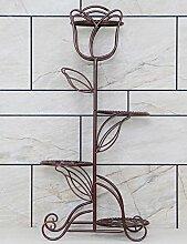 XUEWENZHE Blumenständer Eisen Multilayer Europäische Stil Balkon Wohnzimmer Boden Typ Blumentopf Regal Indoor Chlorophytum Einfache Blumenregal Verschiedene Gartenregal ( farbe : B )