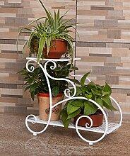XUEWENZHE Blumenständer Europäische Art Blumenregale Indoor Mehrgeschossige Töpfe Regal Wohnzimmer Balkon Blumenrahmen Blume Ein paar Blumenständer ( Farbe : A , größe : 50.5*44cm )