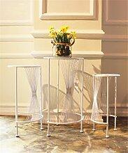 XUEWENZHE Blumenständer European Style Blumenständer Bügeleisen Single Floor Floor Balkon Blumentopf Rack Wohnzimmer Pflanze Rack / Topf Regal Blumenständer ( Farbe : B , größe : 44+50+56cm )