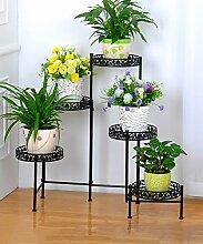 XUEWENZHE Blumenständer European-style Iron Flower Frame Faltende Blumentopf Rack Indoor / Wohnzimmer Mehrgeschossige Blumen Regal Blumenständer ( Farbe : A , größe : 116*21*68cm )
