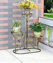 XUEWENZHE Blumenständer European-style Iron Flower Rack Mehrgeschossige Blumenständer / Indoor und Outdoor Blumentopf Rack / Wohnzimmer Balkon Pflanze Rack Blumenständer ( Farbe : D , größe : 60*29*95cm )
