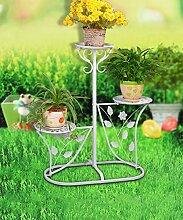 XUEWENZHE Blumenständer European-style Iron Flower Rack Mehrgeschossige Blumenständer / Indoor und Outdoor Blumentopf Rack / Wohnzimmer Balkon Pflanze Rack Blumenständer ( Farbe : B , größe : 60*29*95cm )