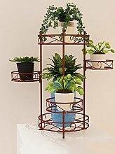 XUEWENZHE Blumenständer European Style Iron Flower Shelf Indoor Multi - Storey Töpfe Regal / Balkon Wohnzimmer Pflanze Regale Blumenständer ( größe : 39*39*47cm )