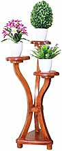 XUEWENZHE Blumenständer Fester hölzerner Blumen-Zahnstange-Fußboden-Bonsais-Rahmen Mehrschichtiger Flowerpot-Zahnstange Multifunktionsgestell-Balkon-Wohnzimmer-Raum-Studie-Blumen-Regal Verschiedene Gartenregal