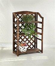 XUEWENZHE Blumenständer Holz Blumentopf Regal Indoor Blume Rack Boden Pflanze Stand Blumenständer ( größe : 66*33*102cm )