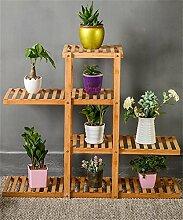 XUEWENZHE Blumenständer Massivholz Blume Rack Sukkulenten Pflanze Stand Holz Blumentopf Regal Wohnzimmer Indoor Balkon Rack Blumenständer ( größe : 95*28*82cm )