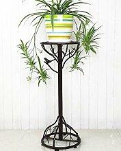 XUEWENZHE Blumenständer Weißes kreatives Blumen-Rahmen-Eisen-mehrstöckiges Wohnzimmer-Balkon-einzelne Schicht-hängende Orchideen-Regal-Blumen-Topf-Zahnstange Verschiedene Gartenregal ( farbe : A , größe : 31*94cm )