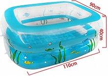 Xufei Aufblasbare Badewanne mit rechteckigem Pool,