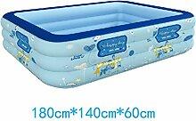 Xufei Verdickung aufblasbare Schwimmbad Baby Kind Kind Schwimmbecken Planschbecken Erwachsene aufblasbare Badewanne - Elektrische Pumpe aufblasbar (Größe : 180cm*140cm*60cm)