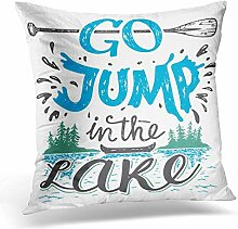 Xukmefat Go Jump in The Lake House Sign Vintage