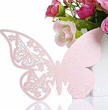 Xuniu 50 Stück Schmetterling Form Tischkarte