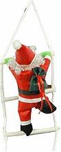XUNQI Weihnachtsmann Klettern auf Strickleiter