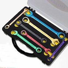 XUSHEN-HU Werkzeuge 7-teiliges Set mit farbigem