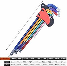XUSHEN-HU Werkzeuge 9-teiliges Schraubendreher-Set